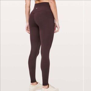 Brown align lululemon leggings